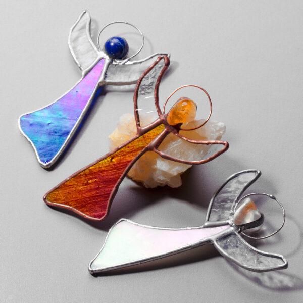 Inger cu cristale Angel Aura Citrin Lapis Lazuli