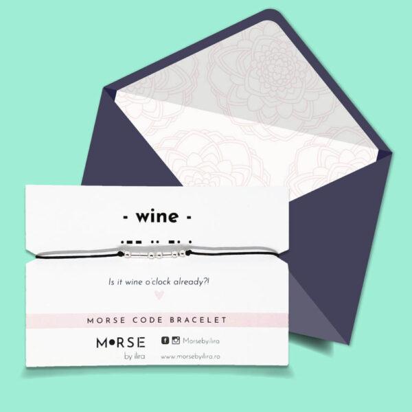 Bratara Cod Morse Wine argint
